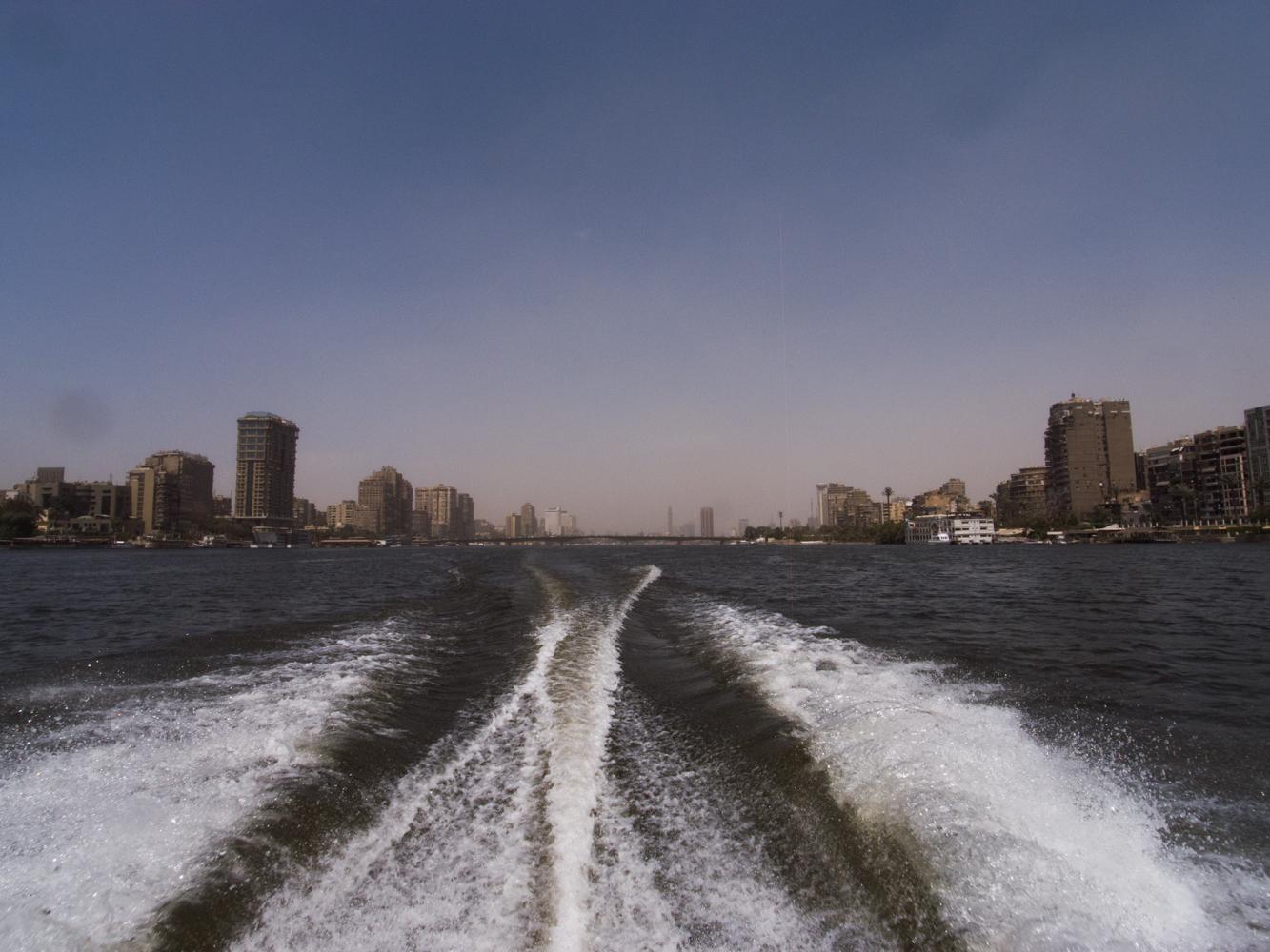 Kairo_Ägypten_City, Nil, Pyramiden