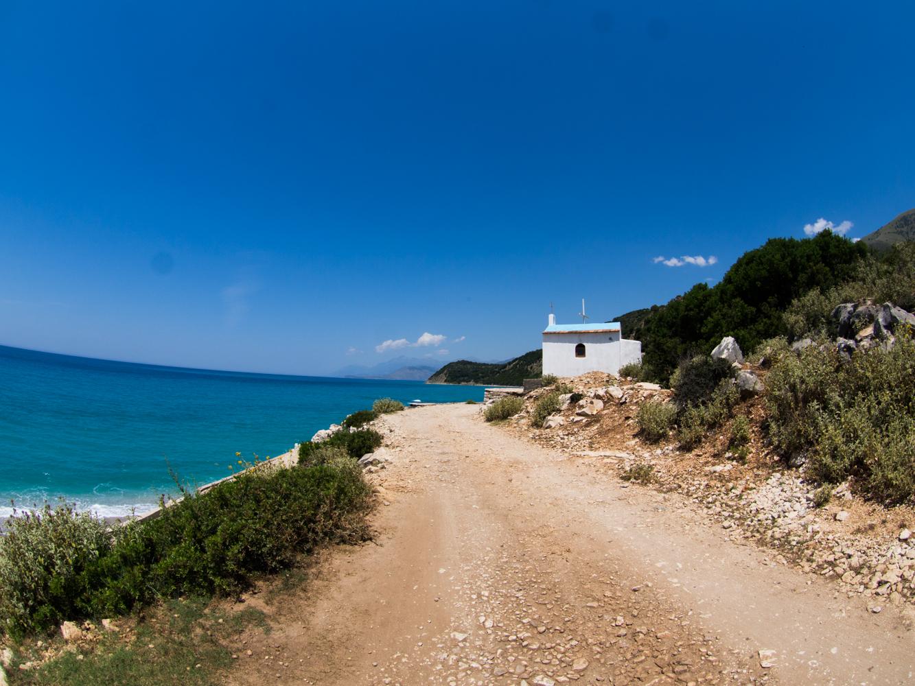 Die albanische Küste